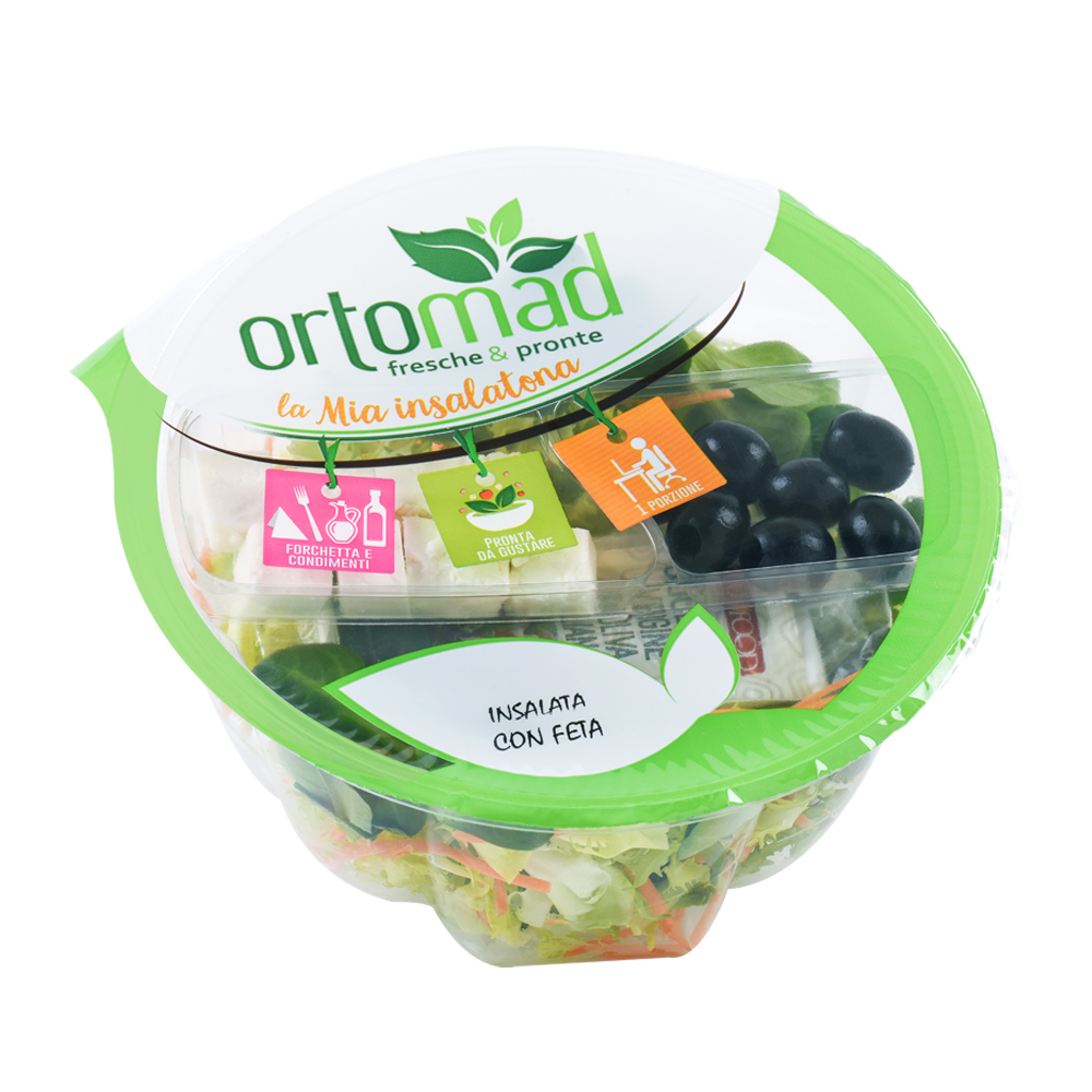 140g with oil&vinegar kit <br> Insalata con Feta