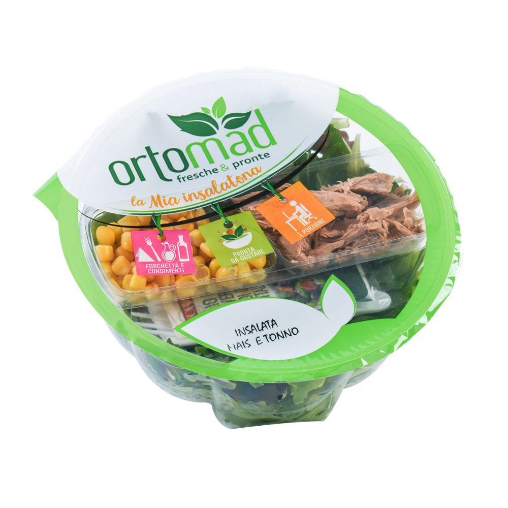 120g with oil&vinegar kit <br> Insalata Mais e Tonno
